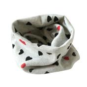 FEITONG Fashion Autumn Winter Boys Girls Collar Kids Baby Heart Scarf Cotton O Ring Neck Scarves