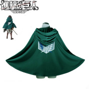 Fashion Anime Attack on Titan Cloak Cape Cosplay Costumes Clothes, S