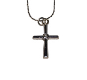 41cm Necklace w/ Straight Leg Cross - Keep Case Included