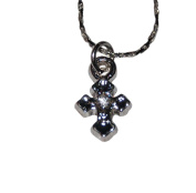 41cm Necklace w/ Small X Cross - Keep Case Included