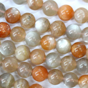 Natural Colour Genuine Moonstone Round Real Gemstones Loose Beads for Jewerly Bracelet Making
