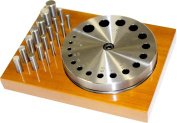 20 Piece Disc Cutter Set - 18 Cutters, Steel Plate and Hardwood Stand
