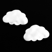 10 pcs Cloud Pendant Charm Connector Silver Plated Necklace Earring Bracelet Jewellery FREE combine shipping from US AC059