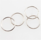 300pcs Rhodium Plated Round Charms for Jewerly Making