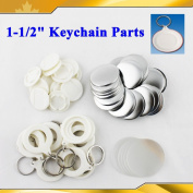 """Asc365 Keychain 37mm 1-1/2"""" Supplies 100sets for Pro Maker Machine Commerciadiy"""