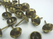 #9h Antique Brass Upholstery Nails Qty. 100 Pcs.