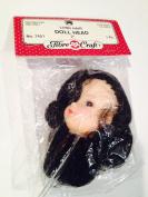 5.1cm Black Long Hair Doll Head