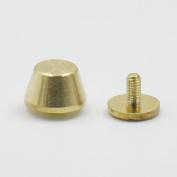 25 PCS Brass Screwback Feet Size 10mm 11mm 12mm Screw Head Purse Handbag NAILHEADS Stud Spike Spot