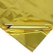 Gold Metallic Sheets - 100 Sheets of 46cm x 80cm Gold Mylar Paper
