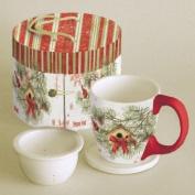 Lang Cardinal in Pines Tea Cup Set