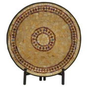 Mosaic Pattern Platter with Stand