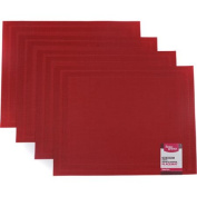 Better Homes and Gardens Red Double Border Placemat, Set of 4