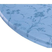 Miles Kimball 110cm - 140cm dia. Round Blue Floral Swirl Elasticized Table Cover