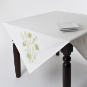 Saro Ribbon Embroidered Table Topper