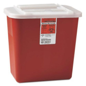 Medline MDS705202 Sharps Container, Freestanding & Wall Mountable, 7.6l, 23 1/2 X 19 7/10 X 28, Red