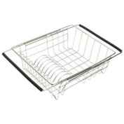 Just JEDD-1375115 Stainless Steel Adjustable In Sink Dish Rack
