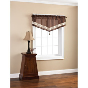 Mainstays Duchess Ascot Faux-Silk Valance with Tassel
