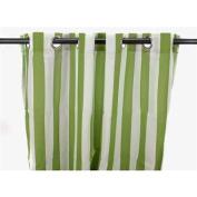 Stripe Curtain Panel in Sage Green