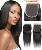 Mike & Mary® Best 6A Virgin Brazilian Hair Top Lace Closure Piece Straight Size 4*4 Natural Colour Free Part Closure