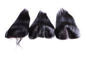4x 4 Brazilian Straight Virgin Hair Closure Free Part Lace Closure Bleached Knots 100% Unprocessed Human Hair