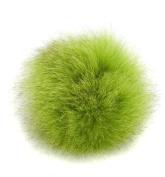 Real Genuine Fox Fur Pom Pom Ponytail Holder Hair Accessory Fascinator