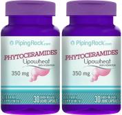 Phytoceramides 350 mg (Lipowheat) 2 Bottles x 30 Liquid Capsules