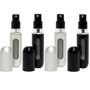 Travalo Classic 4 Pack Refillable Travel Perfume Bottle Atomizers