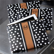 Polka Dot Chelsea Printed Initial Carry All Bag