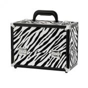 Danielle Enterprises Make-Up Case Cosmetics Trunk, Zebra Print