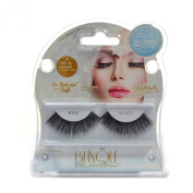 Blinque 100% Human Hair False Eyelashes 6 Pairs,Colour# 100
