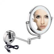 GuRun Wall Mount Sensor Mirror Sensor-Activated Lighted Vanity Mirror,7x Magnification,20cm ,Chrome Finish With Plug M1803D