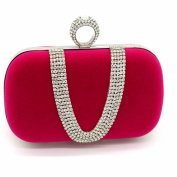 Kingluck Velvet with Austria Rhinestones/ Aluminiumsheet Evening Handbags/ Clutches More Colours Available