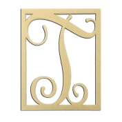36cm T Monogram Capital Letter Unfinished DIY Wood Craft To Sell Ready to Paint Wood Wooden Cutout