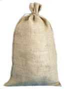 36cm X 70cm Burlap Bags with Drawstring - Lot of 3