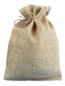 25cm X 36cm Burlap Bags with Drawstring - Lot of 40