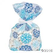 Snowflake Cellophane Bags 12 Pcs