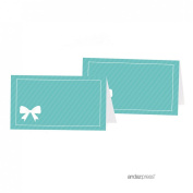 Andaz Press Table Tent Place Cards, Party & Co Blank, 20-pack, For Themed Party Favours, Tiffany Inspired Table Settings, Decor, Decorations
