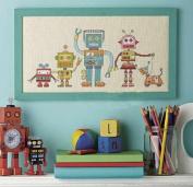 Robot Cross Stitch Kit,dmc Thread 11ct ,26x50cm for Little Boy Cross Stitch Kits