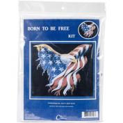 Born To Be Free Counted Cross Stitch Kit-42cm x 37cm 14 Count