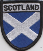 Scotland Scottish Saltire Small Embroidered Patch Badge