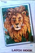 Wonderart By Caron Latch Hook Kit, 90cm By 130cm , #4481 Lion