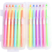 JX ZZX-04 Dream Candy Colours Gel Ink Pen,Vibrant Pastel Colours,Pack of 12 Assorted Colours In Plastic Case,Great For Black Paper Card Writing Sketch Drawing
