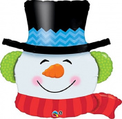 XL 90cm Frosty Snowman Christmas Mylar Foil Balloon Super Shape Party Decoration