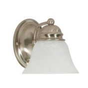 Nuvo Lighting 60/340 Bathroom Fixtures Empire Indoor Lighting Bathroom Sconce ;Brushed Nickel