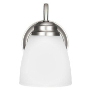 Sea Gull Lighting 4112401 Bathroom Fixtures Northbrook Indoor Lighting Bathroom Sconce ;Brushed Nickel