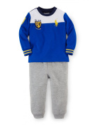 Ralph Lauren Baby Boys Colorblocked Tee & Fleece Pants Set