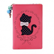 BLACK FRIDAY DEAL 2015 easygogo®Girls Cat Print Medium Faux Leather Purse Best Friends Gifts for Women Christmas Gifts Ideas