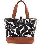 Urban Mom, . Nappy Bag, Black Floral Tote