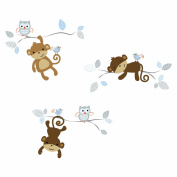 Bedtime Originals Mod Monkey Wall Appliques