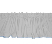 Baby Doll Bedding Solid Reversible Window Valance, Grey/Blue